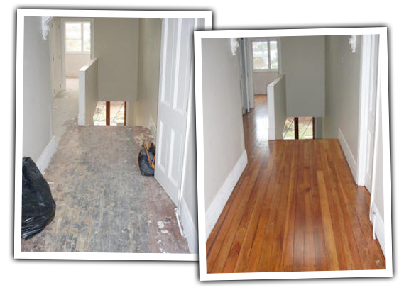 wooden floor sanding polishing